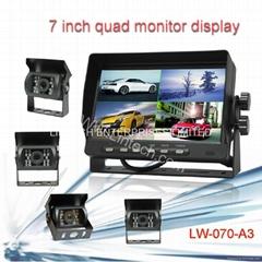 7 Inch Digital LCD Quad