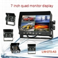 Digital 4 Split 7 Inch Quad Monitor Car