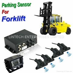 2014 NEW Design Forklift reverse parking sensor system with Rear view camera