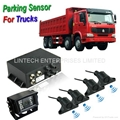 12~24V Truck front and rear parking sensors with 7 inch display