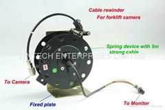 Cable rewinder for Forklift