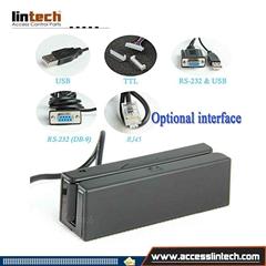 Manual swipe magnetic card reader