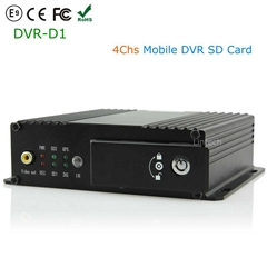 4CH Realtime Support SD Card Mobile Bus Car Vehicle DVR Recorder
