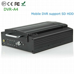 4ch Mobile DVR Recorder GPS Quad Motion Video Accident Proof Truck-Car-Bus Hard