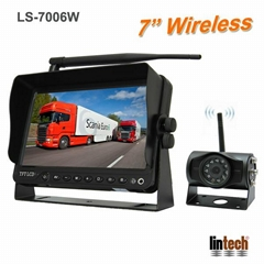 7″ 2.4GHz Wireless Rear View Camera System Kit For Trucks