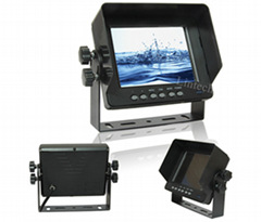 IP69K waterproof 5 inch LCD car monitor for vehicle outdoor