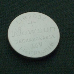 LIR2032 LIR2450 3.6V rechargeable Li-ion battery