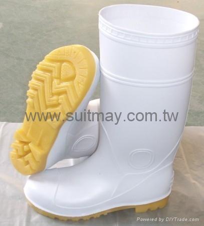 White PVC Boots  1