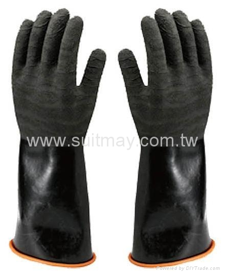 Chemical Glove, Rough Finish 1
