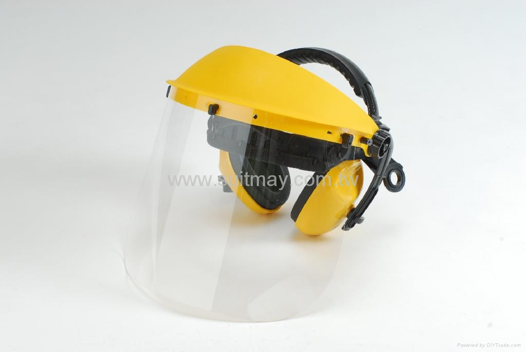 Face Shields with Ear Muffs, CE & ANSI Approved 1