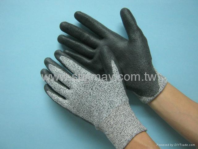 Grey Cut Resistance GloveS 1