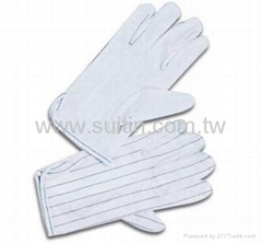 Clean Room Gloves With Dots on Palm