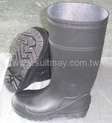 Black PVC Boots