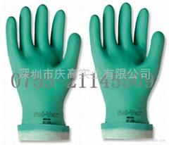 安思爾Ansell   37-175丁腈橡膠抗化學品手套