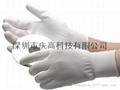 尼龙PU涂掌涂指无尘手套铜纤维碳纤维PU涂掌涂指防静电手套