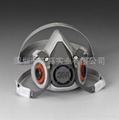 3M6200半面型防护防毒面具