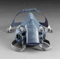 3M7502半面型硅质防毒面具