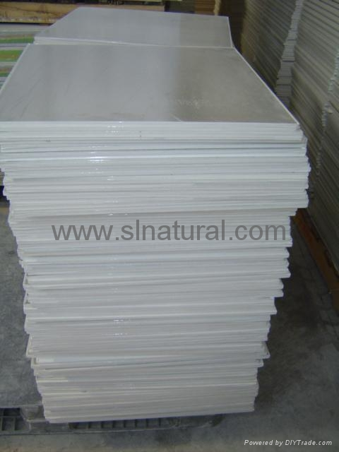 Gypsum board tiles 4