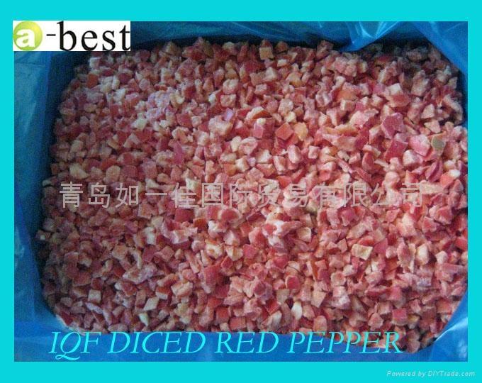单冻红椒丁 1
