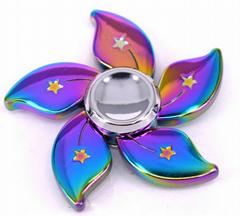 Hot popular metal toys fidget finger spinner with finger gyro