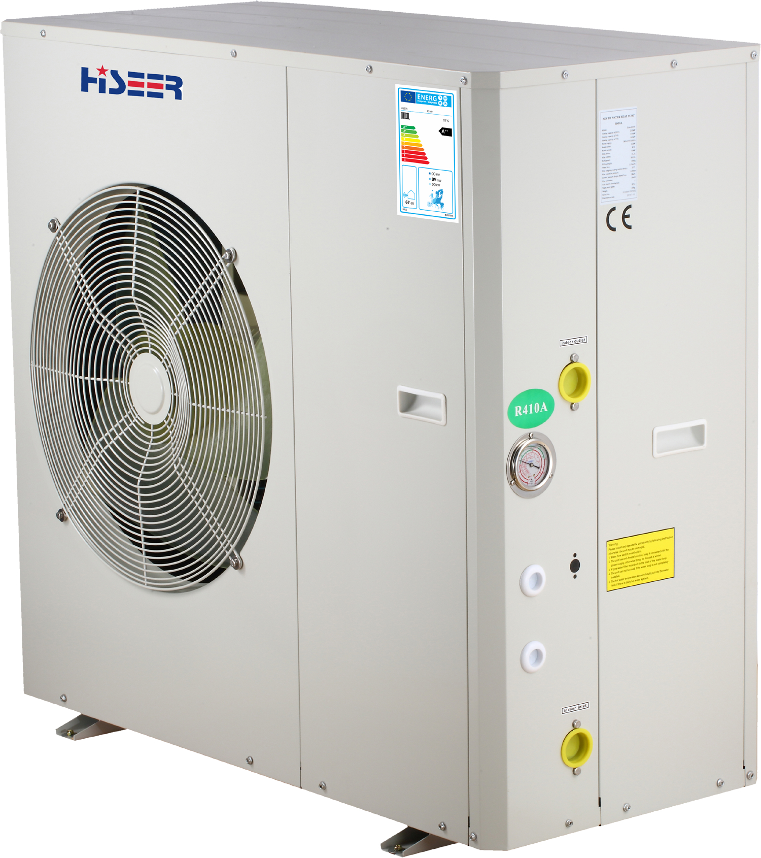 ErP labeled high efficiency A++ air to water heat pump  AS10H 1