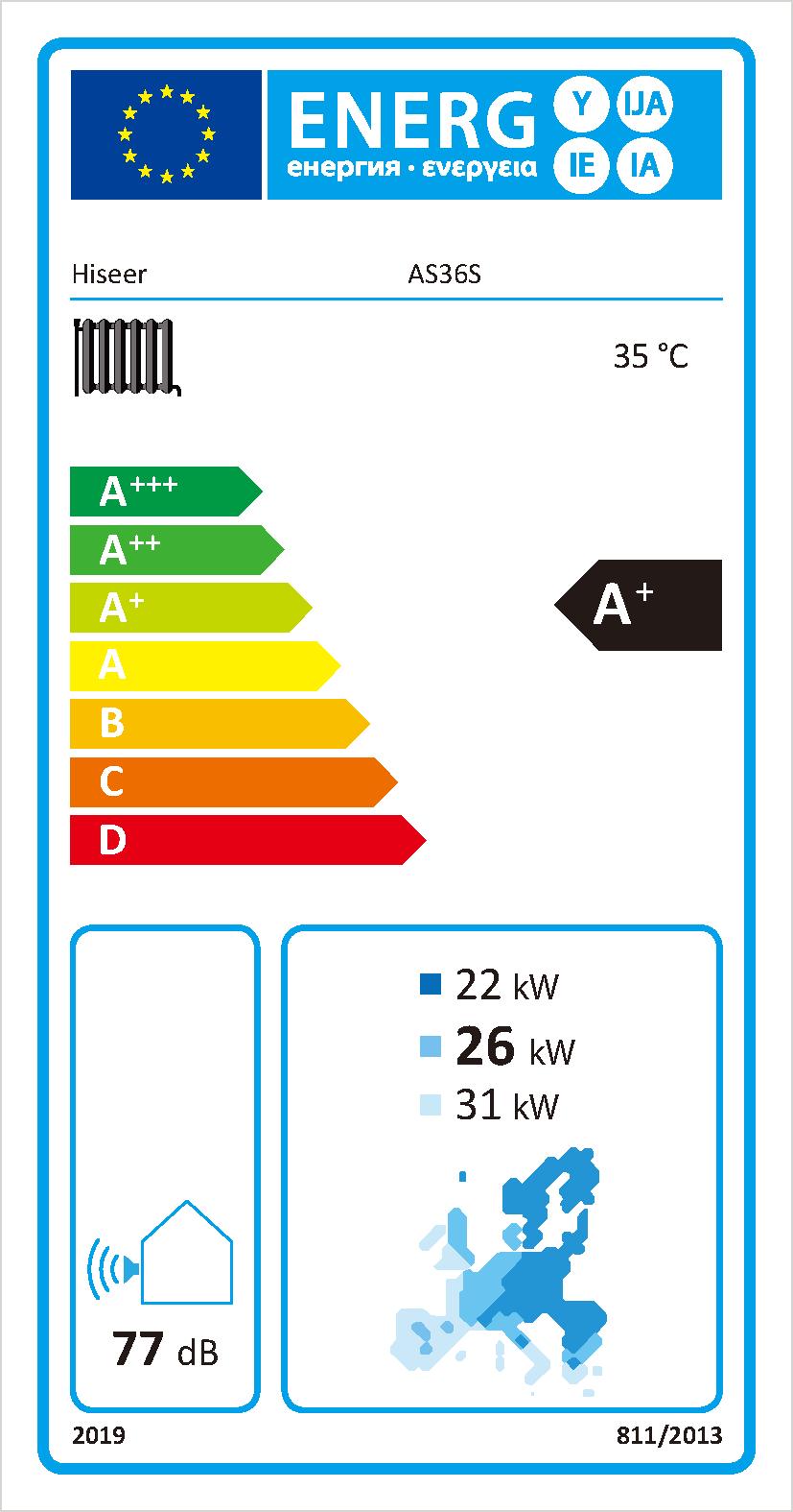 Air to water heat pump AS36S/B 3