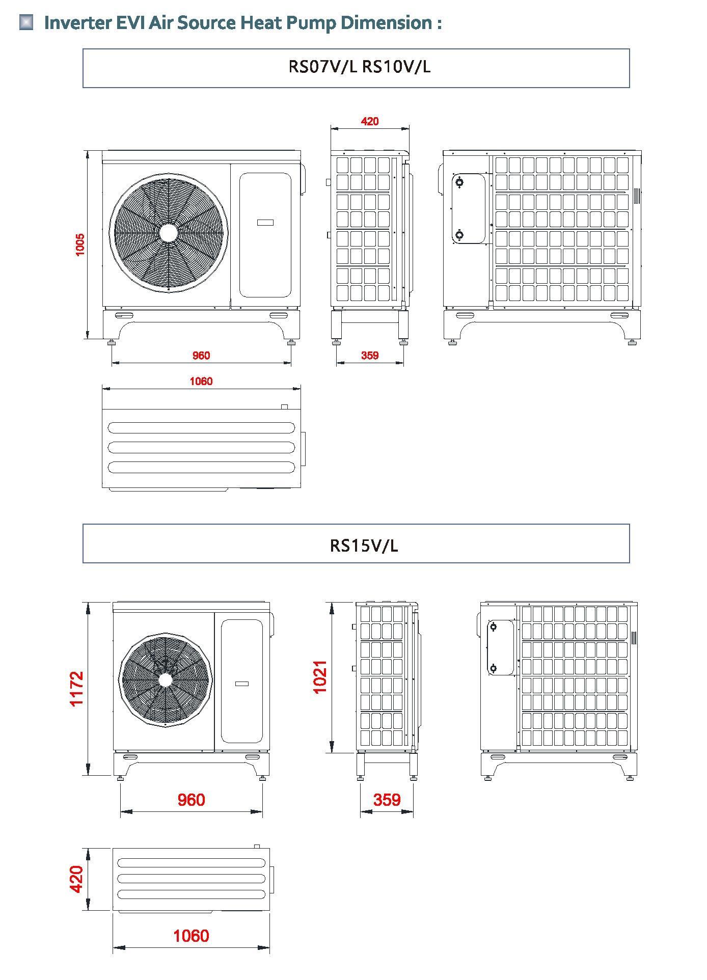 R32 EVI inverter heat pump RS15V/L 14