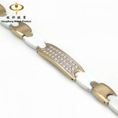 Tungsten steel & Ceramic Bracelet(Tu24ME30-R1-Cw)