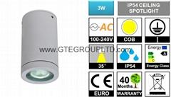 IP54 3W COB LED Ceiling Spotlight