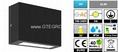 IP54 3W LED Slim Wall Light