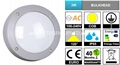 IP65 3W COB LED Bulkhead Light