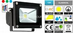 RGB 10W EPISTAR COB LED Flood Light with Remote Controller