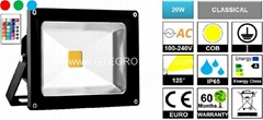 RGB 20W EPISTAR COB LED Flood Light with Remote Controller