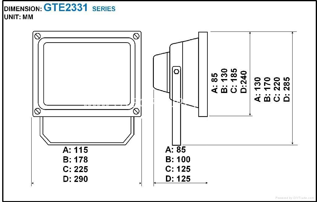 RGB 30W EPISTAR COB LED Flood Light with Remote Controller 2