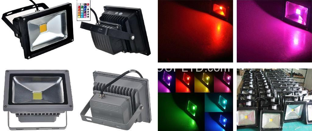 RGB 30W EPISTAR COB LED Flood Light with Remote Controller 3