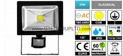 PIR Sensor 20W EPISTAR COB LED Flood