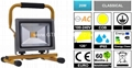 20W COB LED Portable Work Light with