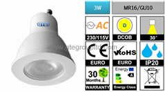Dimmable 3W COB LED Spot