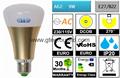A65 DCOB LED Bulb 9W [ALUMINUM+PC]