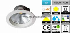 8W LED Downlight 【Cutout D75mm】 【Multi-dimming】
