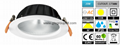 20W LED Downlight 【Cutout D175mm】