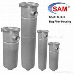 Bag filter housing