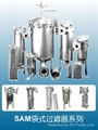 industrial cartridge filter housing for
