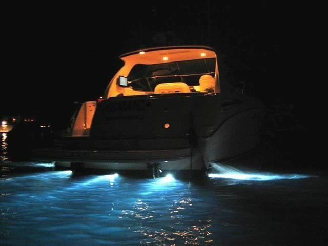 Boat Light Parts : Underwater thru hull boat xenon light v w