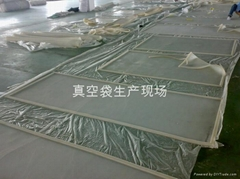 Laminated glass furnace vacuum bag