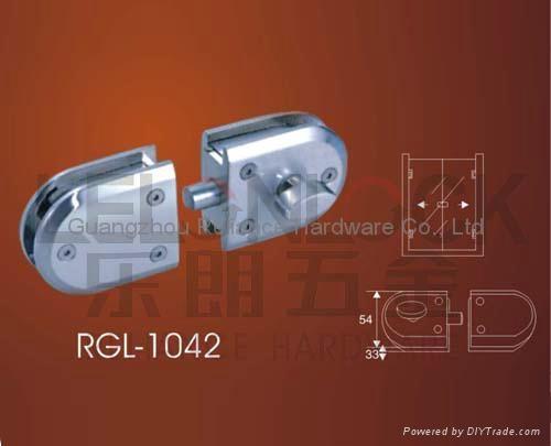 Quality Zinc Alloy material Glass Door Locks 2