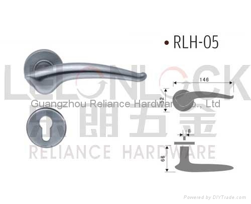 Solid Stainless Steel material Lever type door Handles 5
