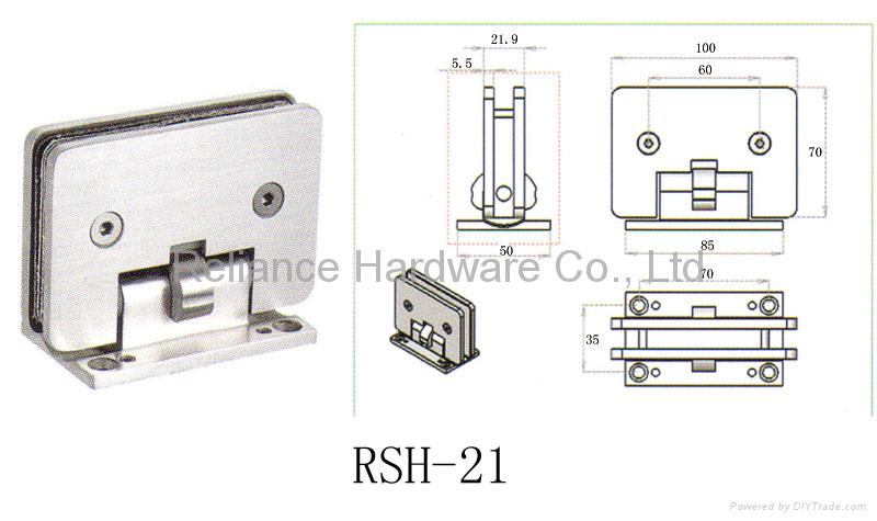 Heavy Duty Glass Door Hinges Rsh 21 Lelonlock China