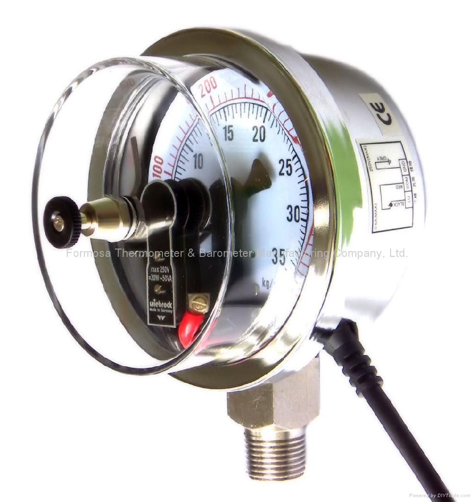 Electrical Contact Pressure Gauges, Pressure Gauge with Electrical