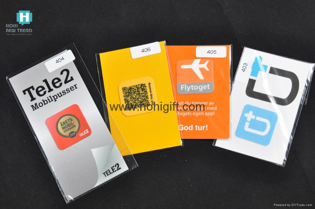 High Quality Customized Logo Microfiber Mobile Phone Sticky Screen Cleaner  5